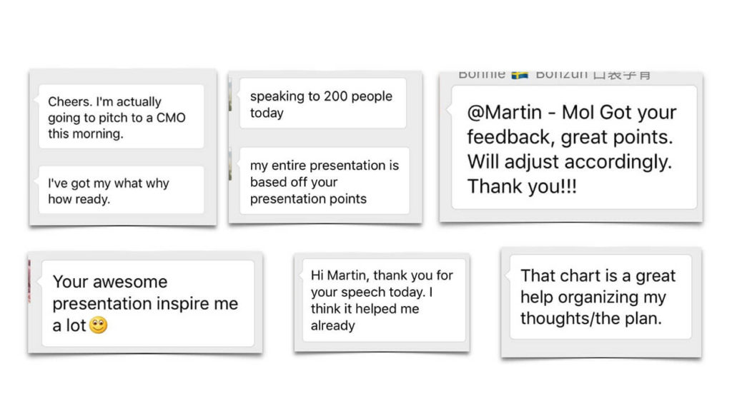 testimonials for our pitching workshops